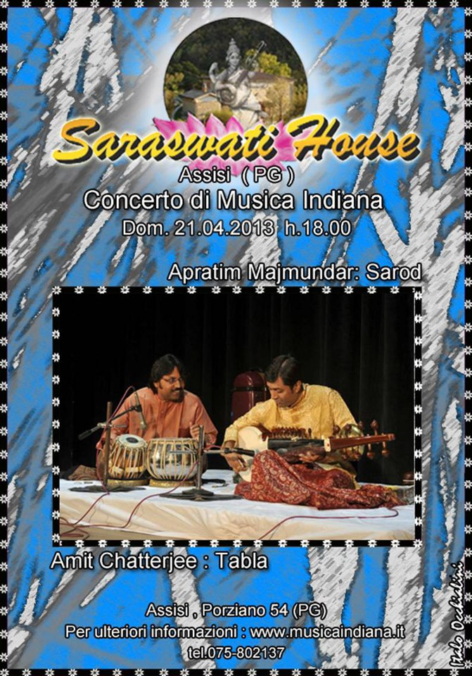 Concert @ Saraswati House, Assisi, Italy on 21.4.2013