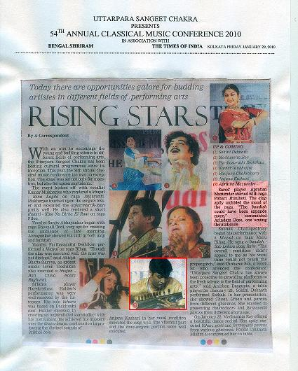 Times of India, Kolkata, 29-01-2010